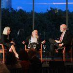 Rabbi Steinsaltz and Dr Groopman in dialogue, moderated by Dr Gaya Aranoff Bernstein