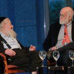 Dr Groopman and Rabbi Steinsaltz in dialogue