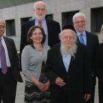 Rabbi Steinsaltz with Drs Levin, Groopman, Hartzband and Aranoff Bernstein, with Lewis Bernstein