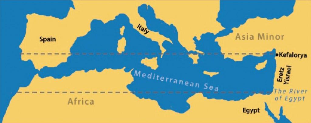 di borders according to yehuda