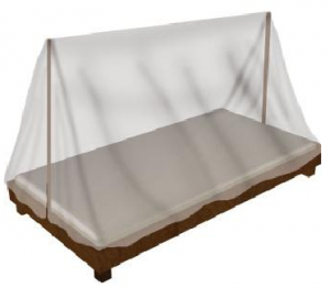 Naklitin: two posts in the center of the bed upon which a cover is spread, creating an inclined roof